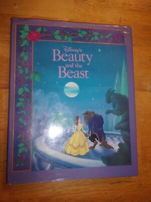Vintage Disney Beauty and the Beast First Edition Hardcover Book 1991