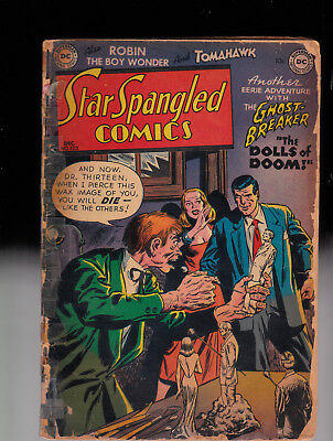 Star Spangled Comics 123 Robin Ghost Breaker Water Stains & Sh*tloads of tape