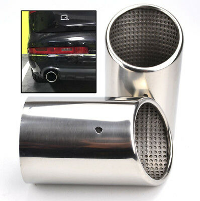 2X For Audi Q7 Rear Exhaust Tailpipe Tail Pipe Tip Muffler End Trim Chrome Cover