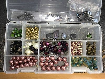 LARGE LOT OF JEWELRY MAKING SUPPLIES beads #1