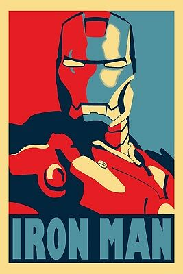 Poster A3 Marvel Iron Man Tony Stark 04