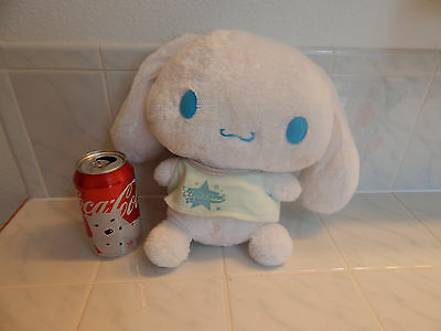 "plush Sanrio Smiles Cinnamoroll white toy dog puppy stuffed shirt 11"" Rare"