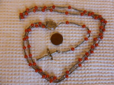 Chapelet Ancien Corail - Antique French Coral Rosary