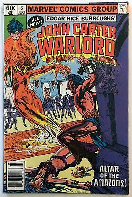 JOHN CARTER WARLORD OF MARS Annual #3 (1979) Marvel Comic Marv Wolfman