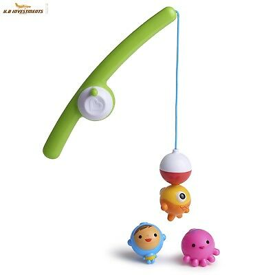 Baby Kids Magnetic Fishing Game bath floating fishing Educational Toy