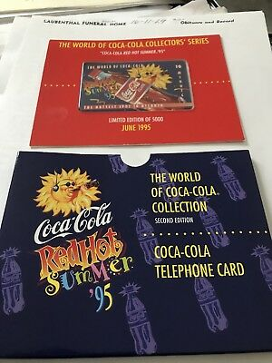 World Of Coca-Cola Red Hot Summer 95 Telephone Card