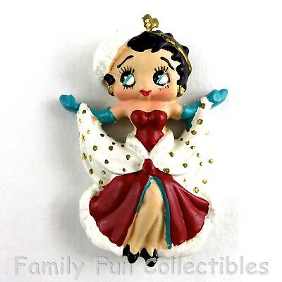 BETTY BOOP~1990s Vandor~Fridge Magnet~Holiday Set~Dress Doll Figure~NEW NOS