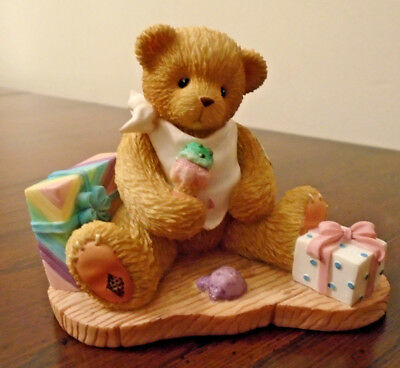 2000 Carlton Exclusive Birthday Enesco Cherished Teddies Teddy Bear Figurine