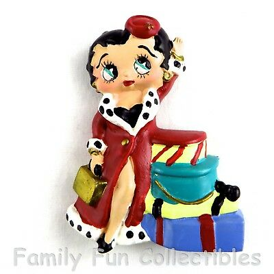 BETTY BOOP~1990s Vandor~Fridge Magnet~Holiday Set~Shopping Doll Figure~NEW NOS
