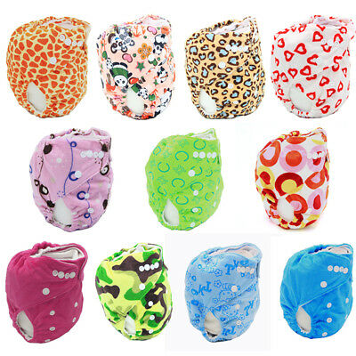 Fashion Soft Baby Washable Cloth Diaper Cover Cartoon Baby Diaper Reusable Nappy