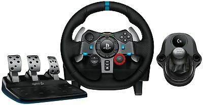 Logitech G29 Driving Force Racing Wheel with Force Shifter Bundle - Xbox One PC