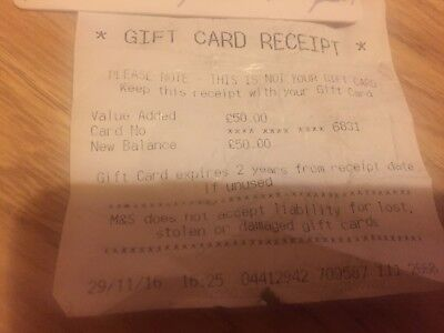 Marks and Spencer gift card & credit note (£51.20 in total)
