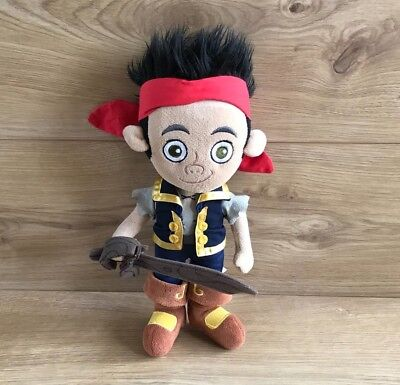 "Disney Store Jake And The Neverland Pirates 12"" Plush - Soft Teddy Disney Junior"