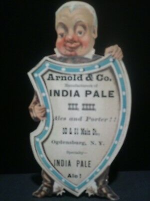 Pre Prohibition Arnold & Co. Ogdensburg, Ny India Pale Ale Die Cut Trade Card 1