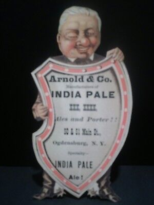 Pre Prohibition Arnold & Co Ogdensburg, Ny India Pale Ale Die Cut Trade Card 2