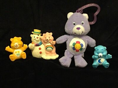 Care Bears Mini Bear Figures Figurines – Lot of 4 Bears Friendship, Bedtime