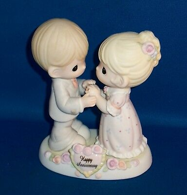 """Precious Moments Happy Anniversary """"Our Love Was Meant To Be"""" Wife Husband"""