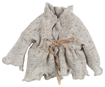 * Maileg Medium Cardigan Weste Strick Grau NEU