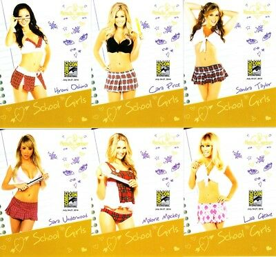 Bench Warmer School Girls 2014 Comic-Con exclusive promo card partial set (6/12)