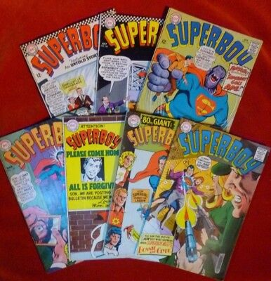 Lot of (7) SUPERBOY DC Comics Issues #133, #140, #142, #145, #146, #147, #149