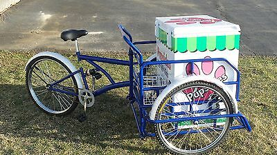 New Ice Cream or Italian Ice Bike Vendor Bicycle Concession or Frozen Dog Treats