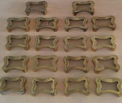 """Antique Brass Apothecary Cabinet Drawer Pulls 2 1/4"""" Bore TT-807 Lot of 18"""