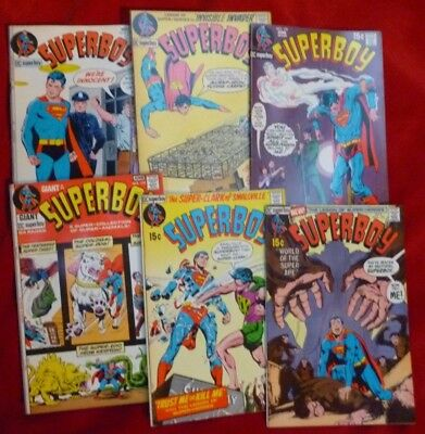 Lot of 6 SUPERBOY DC Comics 1971 Issues #172-177 GOOD Condition