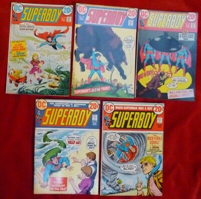 Lot of FIVE (5) Superboy Comics #191 - #195 GOOD Condition