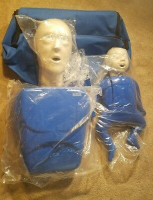 Brand New CPR Adult and Child/Infant CPR AED Training Manikin (Blue)