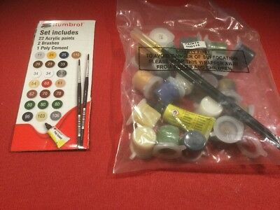 Airfix Paint Sets. Battle Of Waterloo  Paint Set. 22 Acrylic Paints , 2 Brushes