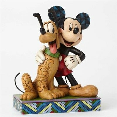 Jim Shore Disney Mickey & Pluto Best Pals #4048656 BRAND NEW Free Shipping