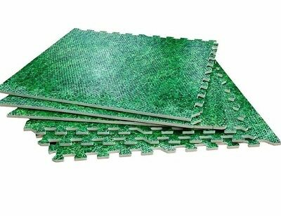 Grass Effect Floor Mats-Rolson 6 Pc Interlocking EVA  1230 x 1825 x 10mm Nursery