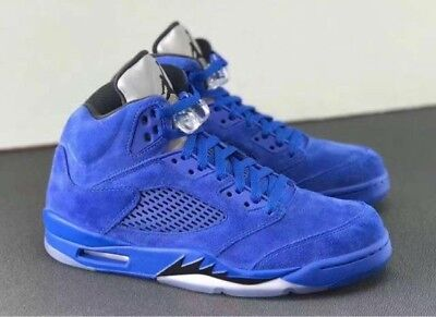"NEW Nike Air Jordan 5 V Retro ""Blue Suede"" Royal (136027-401) Mens Size 11"