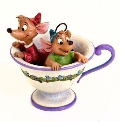 Jim Shore Disney Jaq & Gus Teacup Tea For Two Cinderella 4016557 BRAND NEW