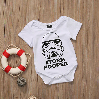 US Star Wars Toddler Newborn Baby Girl Boy Storm Pooper Romper Jumpsuit