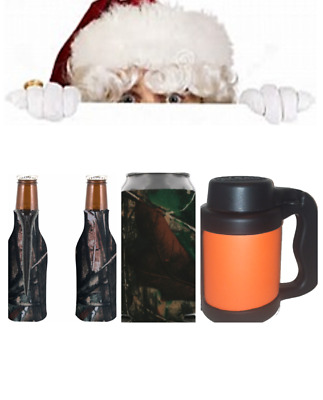 Holiday Christmas Gift True Life Camo/Camouflage Beverage Insulators/Can Coolers