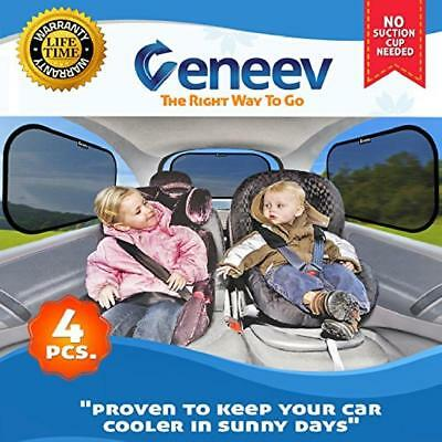 Car Sun Shade for Side and Rear Window 4 Pack Sunshade Protect Kids and Pets