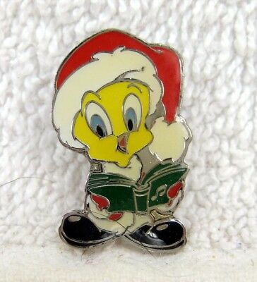 Looney Tunes TWEETY  Singing Christmas Carols Xmas Pin
