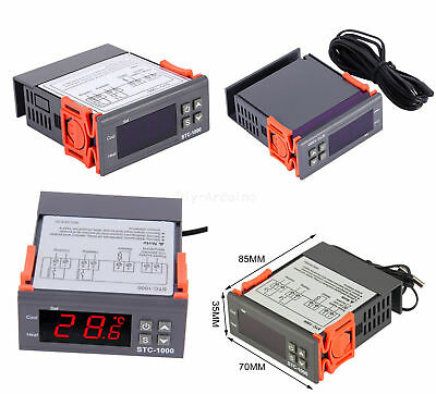 12V/24V/110V/220V STC-1000 Digital Temperature Controller Thermostat w/NTC