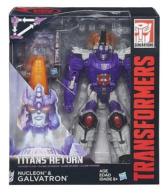 Transformers Titans Return Voyager Galvatron and Nucleon NEW