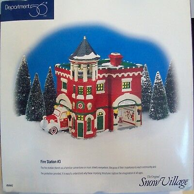 Dept 56 Snow Village Fire Station #3--New In Unsealed Box. Never Displayed