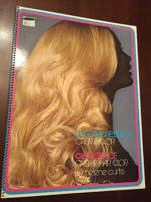 1971 Helene Curtis Coloressence Hair Color Guide Book Creme Beautician