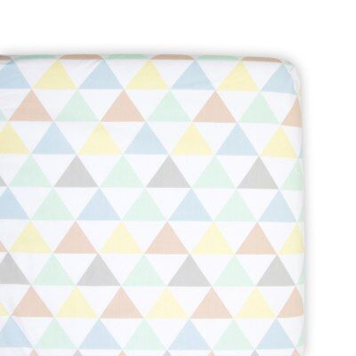 NEW Weegoamigo Fitted Bassinet Sheet - Tri Metric from Baby Barn Discounts