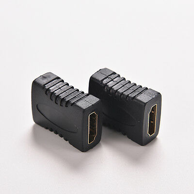 2X hdmi Female to Female Coupler Extender Adapter Connector for HDTV 1080P FO