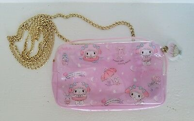 Sanrio My Melody Summer Vacation PVC Pouch with Gold Strap