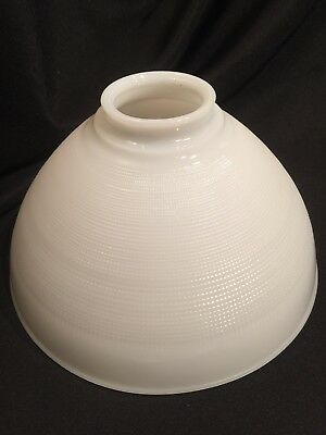 "Vintage Milk Glass 10""  Torchiere Lamp Shade  Industrial Pendant 3-7/8"" Fitter"