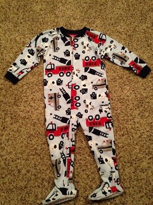 Carter's Toddler Boys Fire Truck Police Emergency Vehicle Sleeper Size 3t