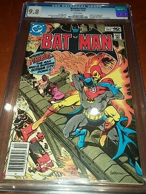 Batman #318 CGC 9.8 white pages first appearance firebug