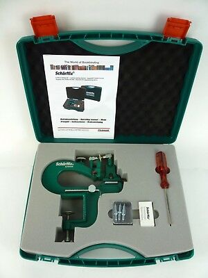 Scharf-Fix #2000 Scharffix Leather Paring Device, Skiving Machine BARELY USED