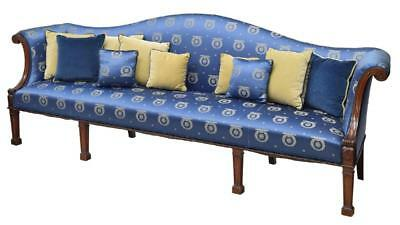 Large Federal Style Sofa, Silk Upholstery